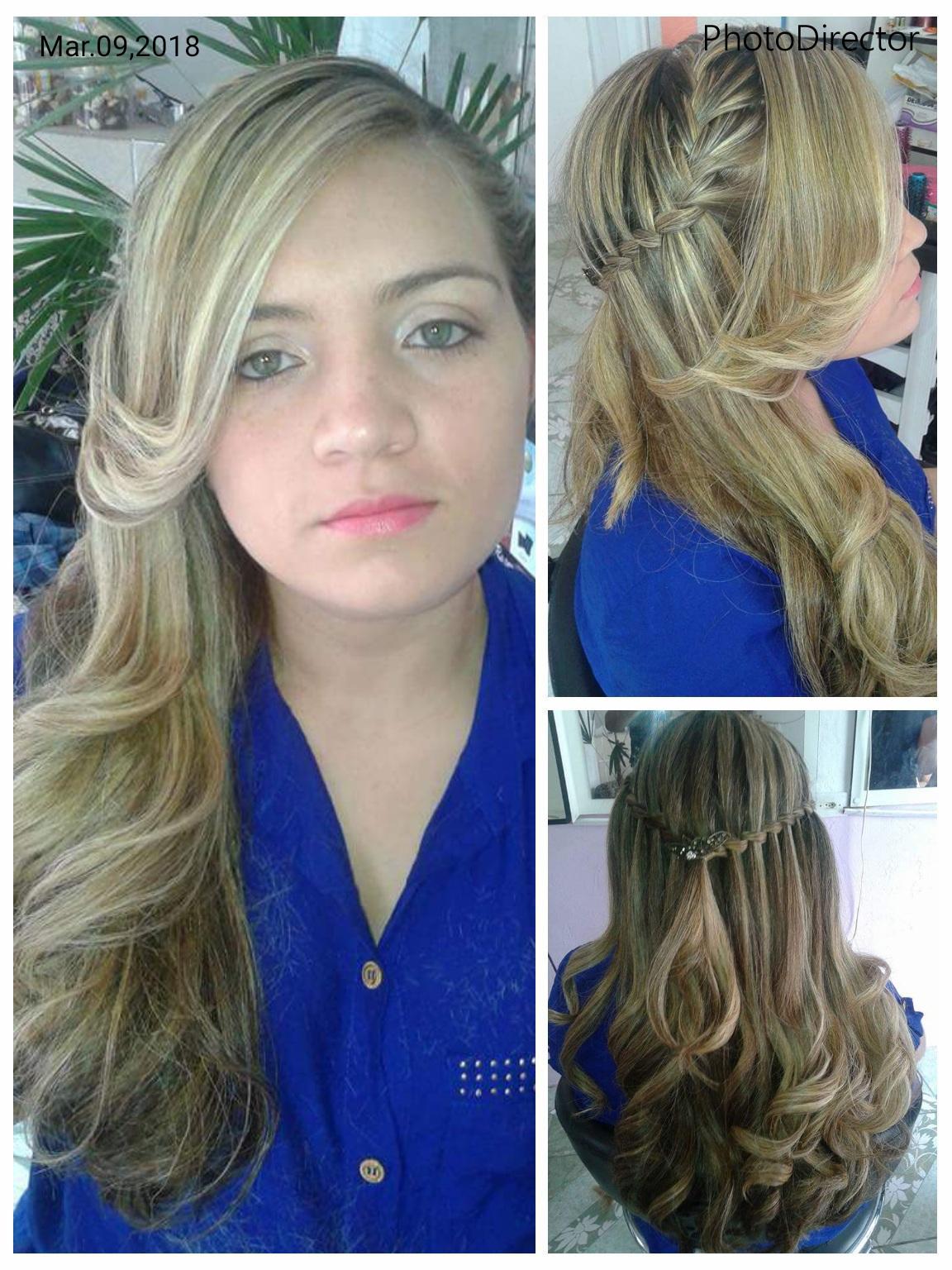 Aqueles cachos laterais com trança... cabelo auxiliar cabeleireiro(a)