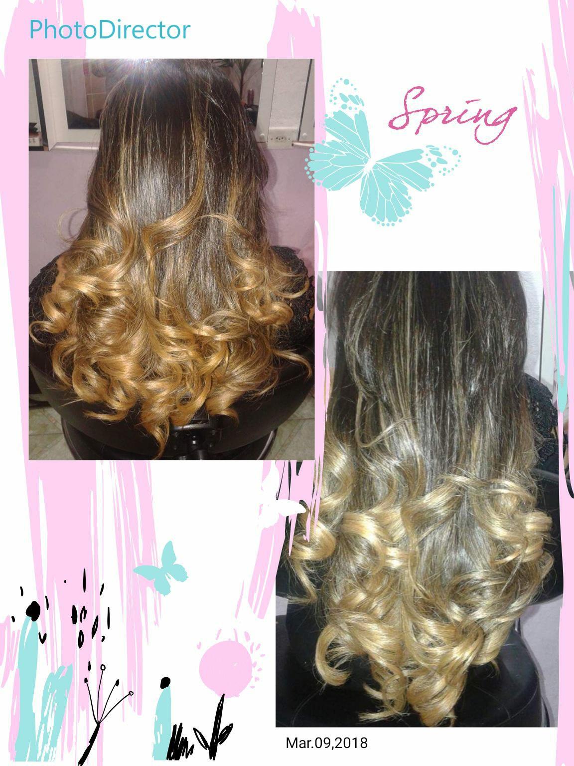 #ombréhair cabelo auxiliar cabeleireiro(a)