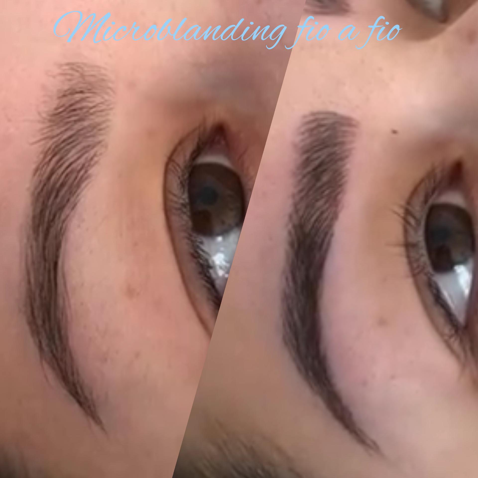Preenchimento fio a fio microblanding  estética cabeleireiro(a) designer de sobrancelhas micropigmentador(a)