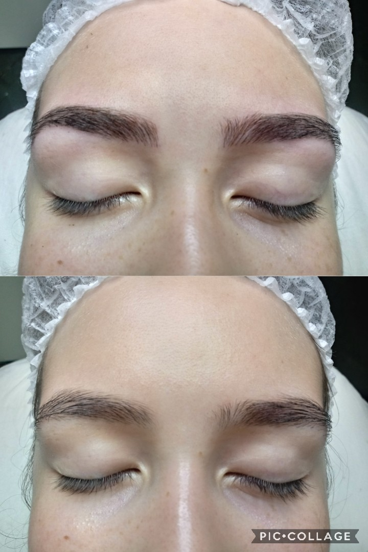 Microblading fios realistas  estética dermopigmentador(a) designer de sobrancelhas depilador(a)