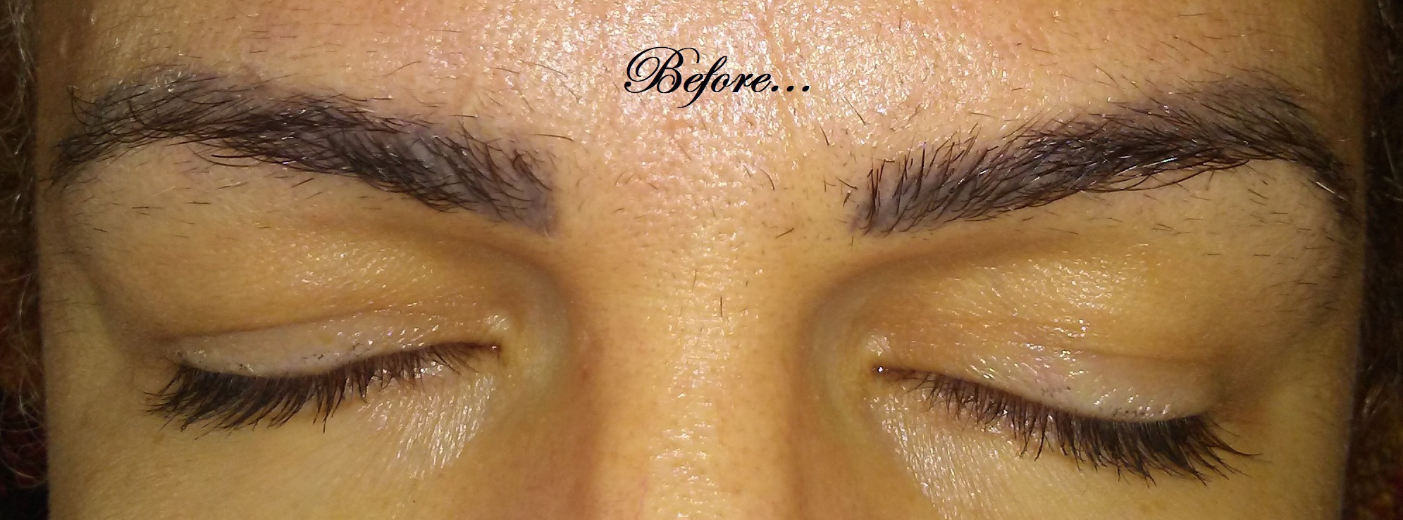 Design de sobrancelha antes estética designer de sobrancelhas