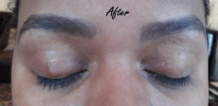 Design Sobrancelhas Depois estética designer de sobrancelhas