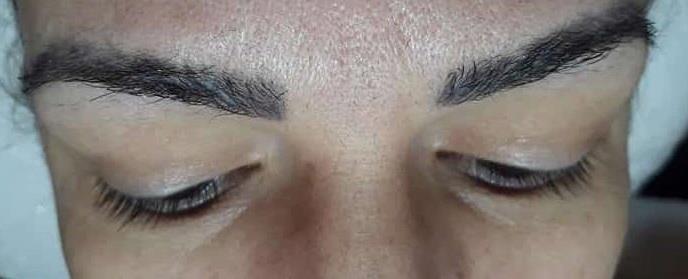 Alongamento de cílios antes estética designer de sobrancelhas