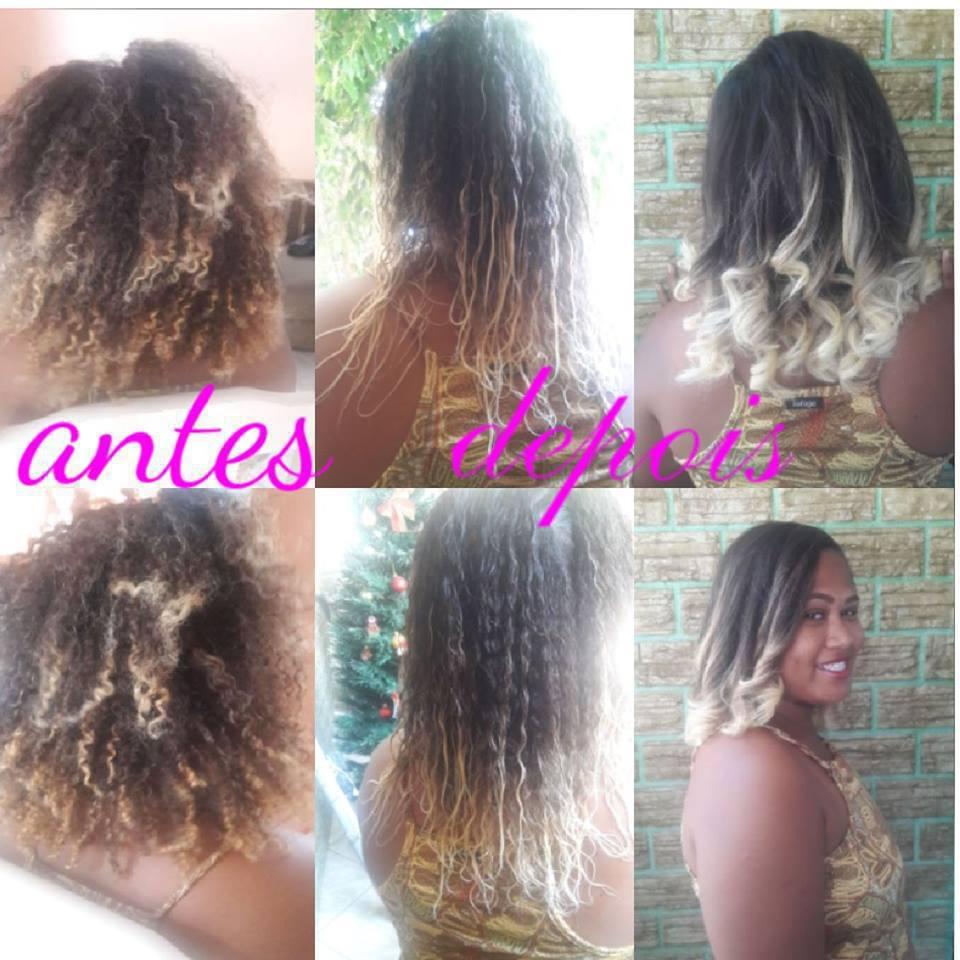 cabeleireira , mechas nas pontas do cabelo cabelo cabeleireiro(a) maquiador(a)