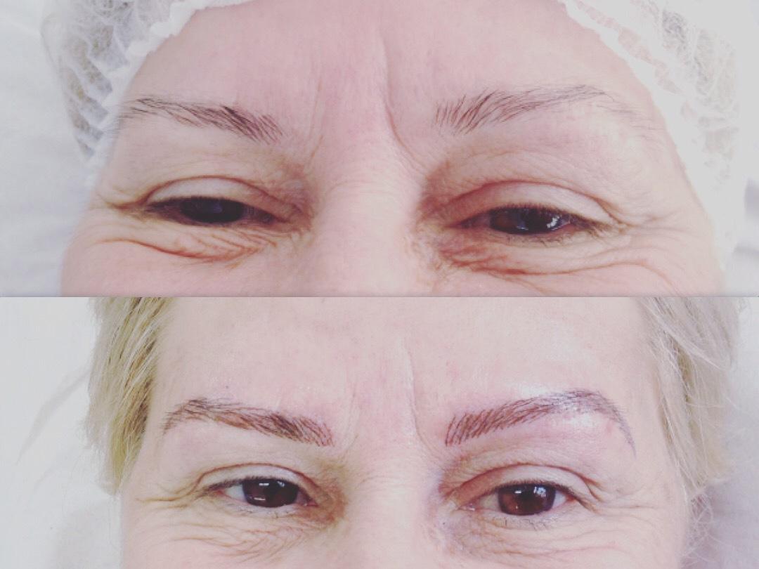 Minha primeira micropigmentação #amei #apraticalevaaperfeiçao  estética designer de sobrancelhas micropigmentador(a) depilador(a) outros