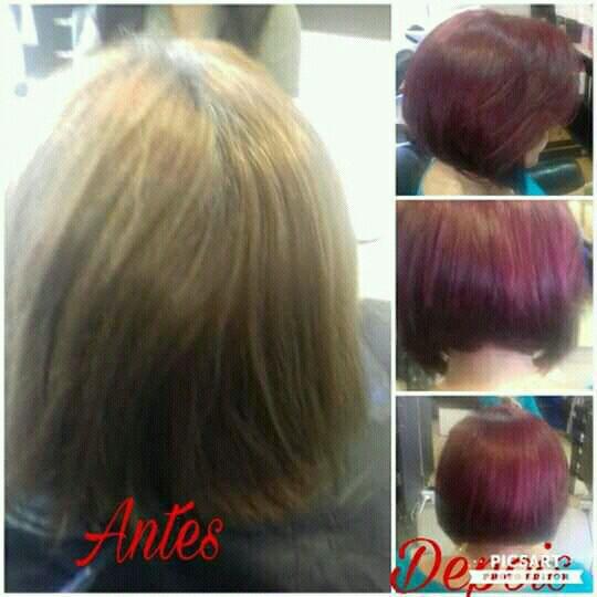 Corte Chanel e mudança de cor cabelo cabeleireiro(a)