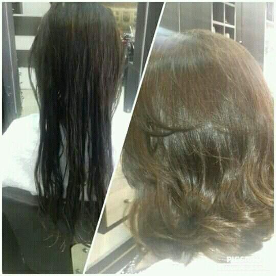 Corte em camadas médio cabelo cabeleireiro(a)