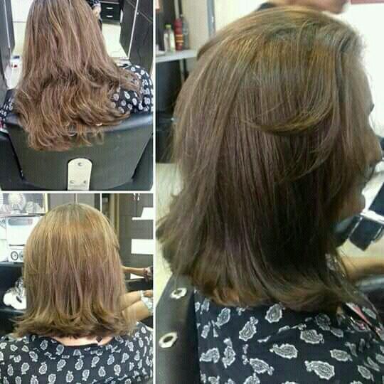 Corte long bob com franja cabelo cabeleireiro(a)