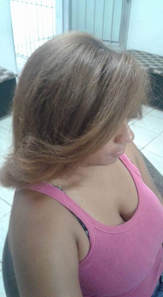 Depois Escova  cabelo auxiliar cabeleireiro(a)