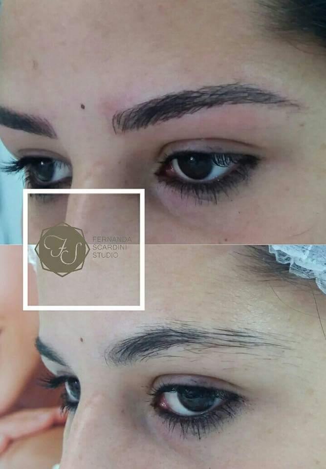 Microblading fios realistas  outros dermopigmentador(a) designer de sobrancelhas depilador(a)