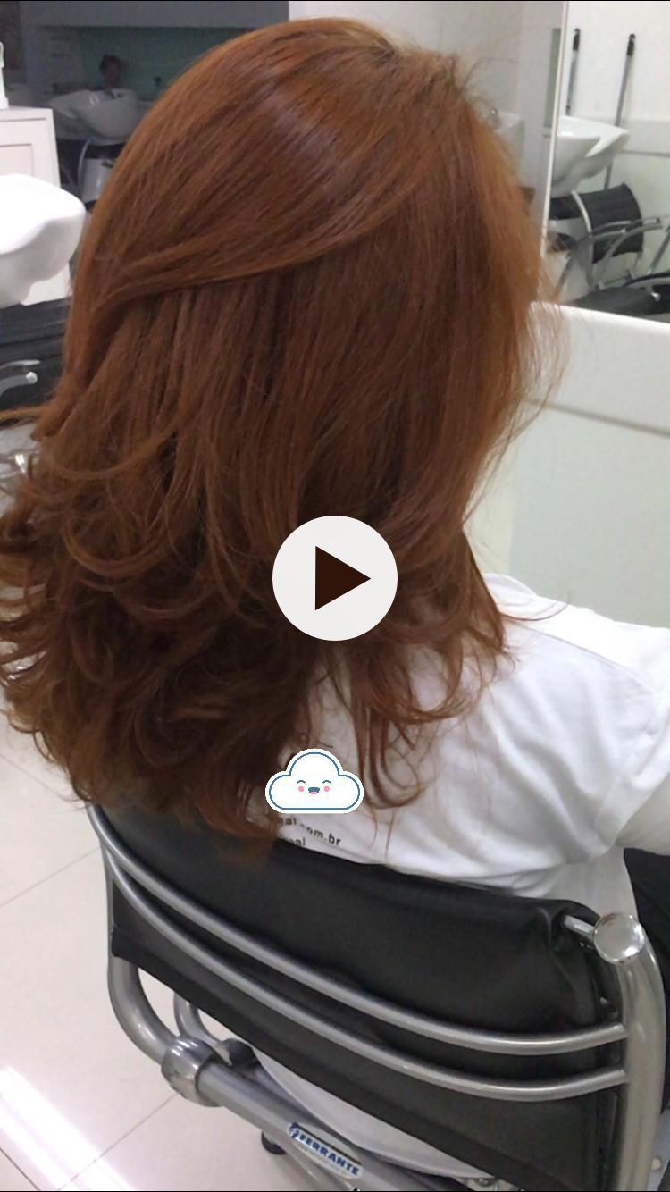 Escova modelada com volume Pós Nutrição! cabelo auxiliar cabeleireiro(a)