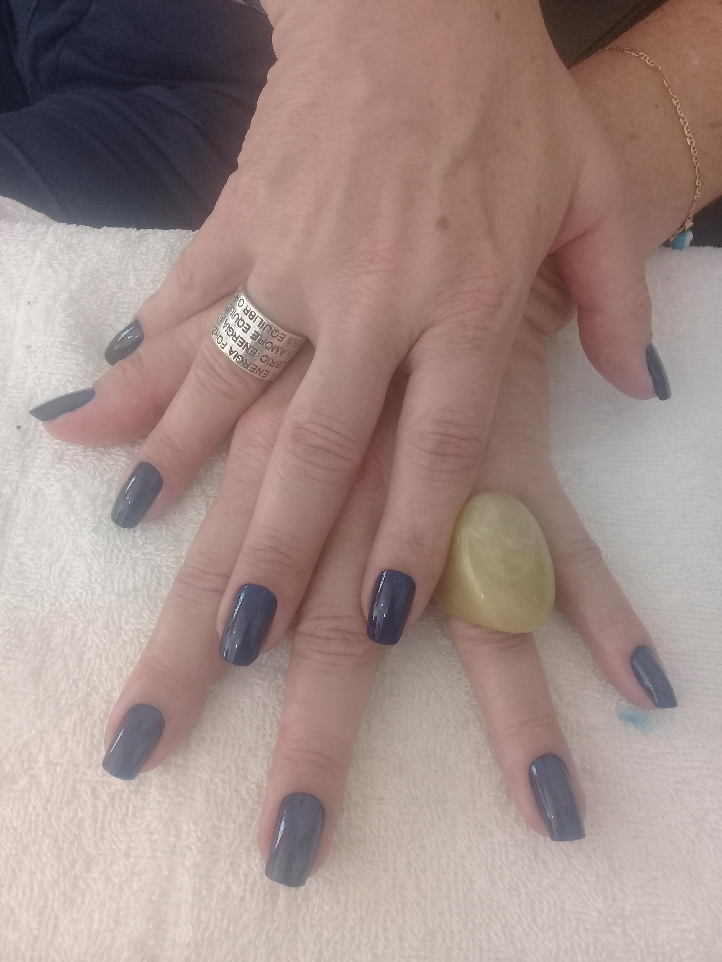 #Azulestrelado porque fomos feitas pra brilharmos juntas ! unha manicure e pedicure