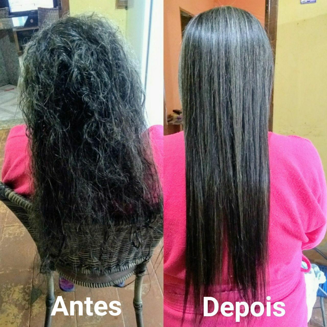 Fiz uma progressiva  cabelo auxiliar cabeleireiro(a)