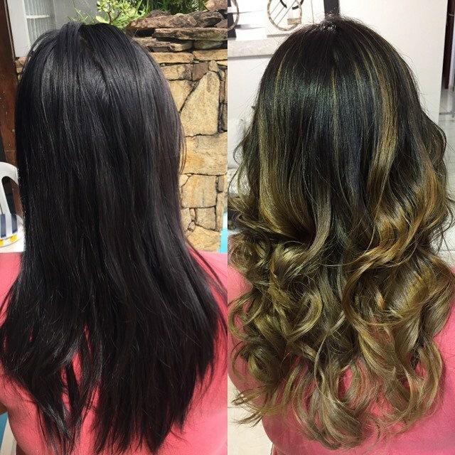 #ombrehair #loiras cabelo auxiliar cabeleireiro(a)