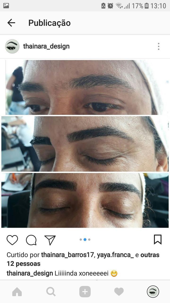 Design com henna  estética designer de sobrancelhas estudante (cabeleireiro)