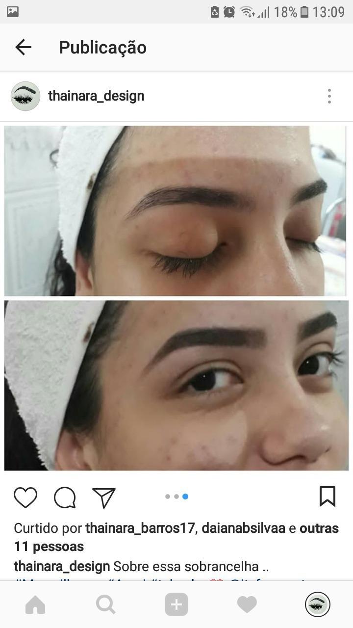 Design +sombra . (Resultado ) estética designer de sobrancelhas estudante (cabeleireiro)