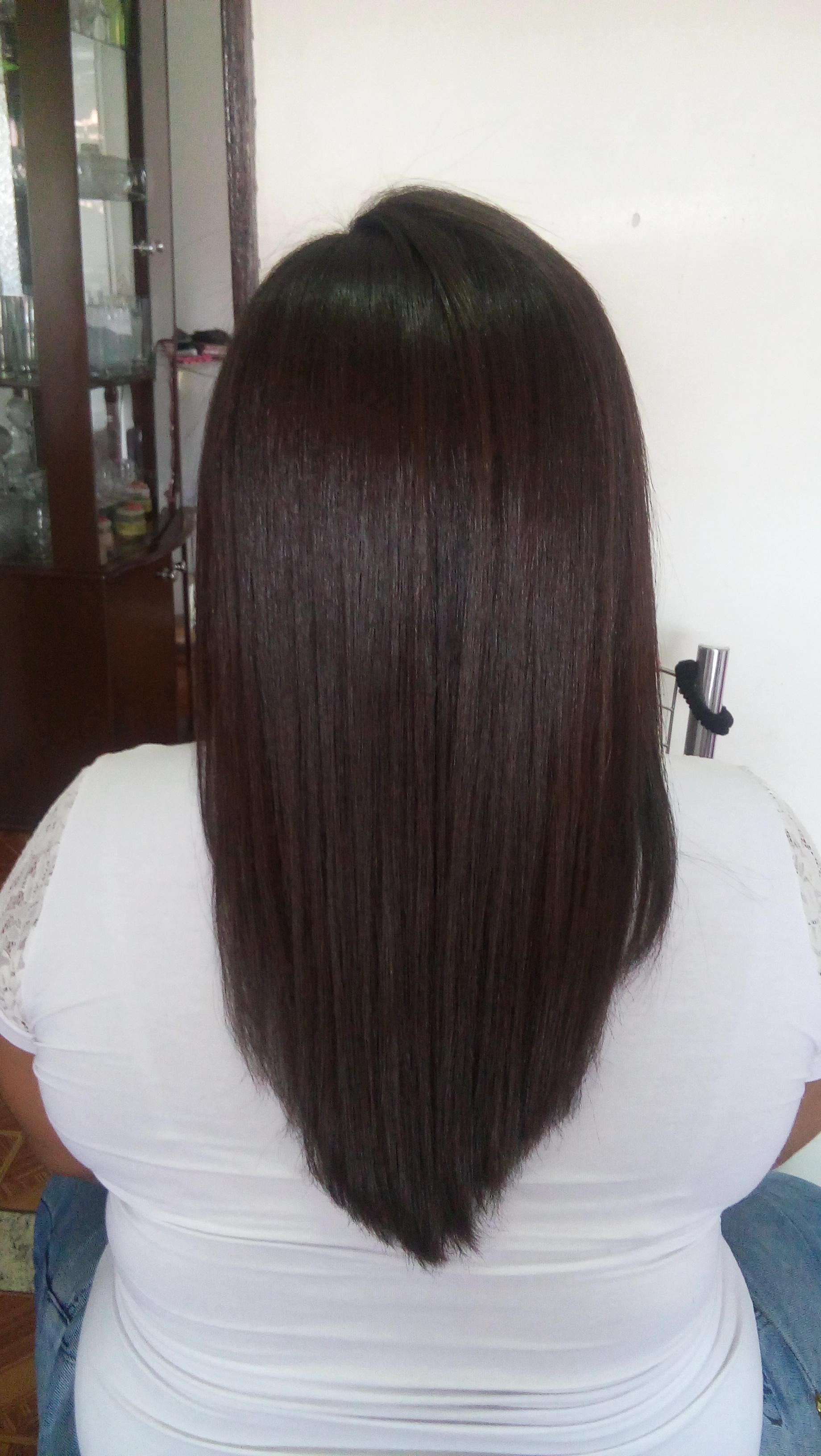Depois.. Botox  sem formol cabelo auxiliar cabeleireiro(a)