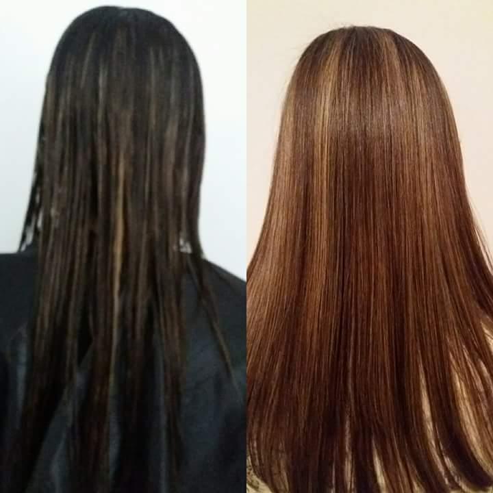 Transformação de cor  cabelo cabeleireiro(a)