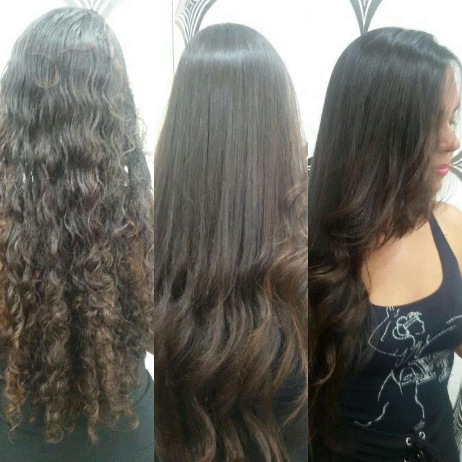 Reconstrução E escova cabelo cabeleireiro(a)
