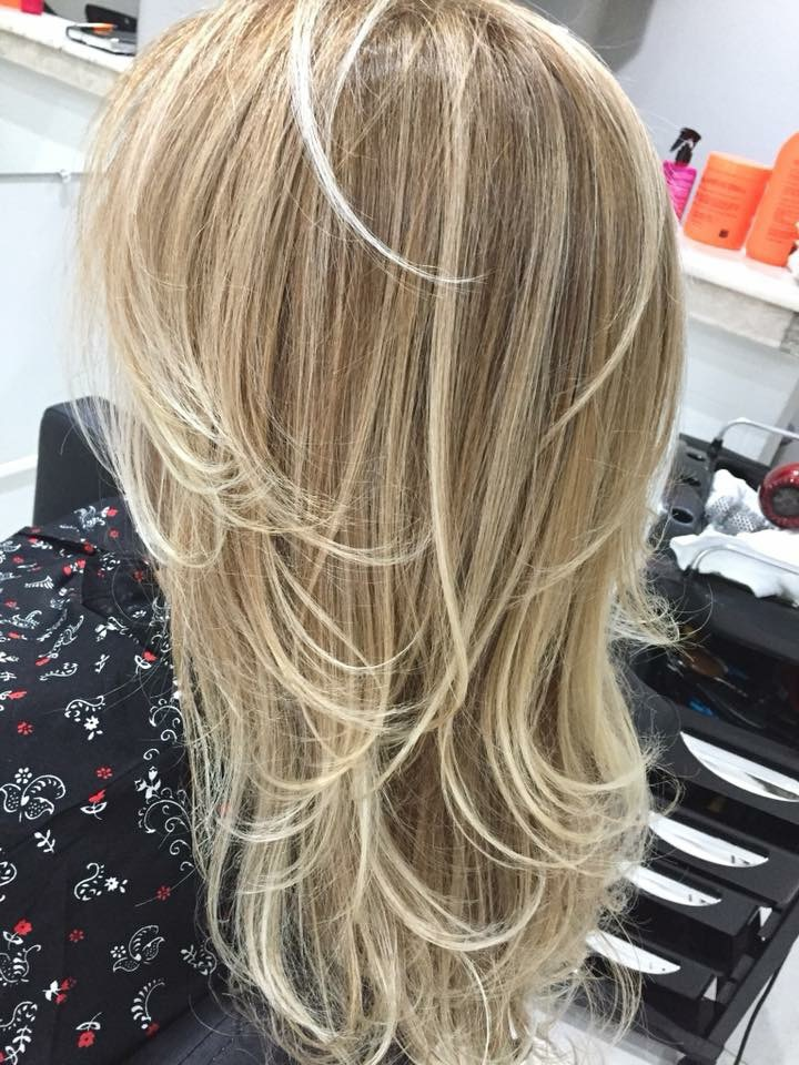 Repicado 💇🏼♀️ #corte #camadas #liso #repicado # loira cabelo cabeleireiro(a)