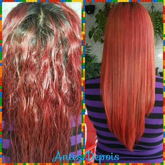 Escova  progressiva cabelo cabeleireiro(a)