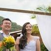 Noiva casamento dia ,penteado lateral com trança despojado
