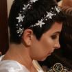 Noiva cabelo curto😍😍modelagem e aplicação de acessório ,casamento praia