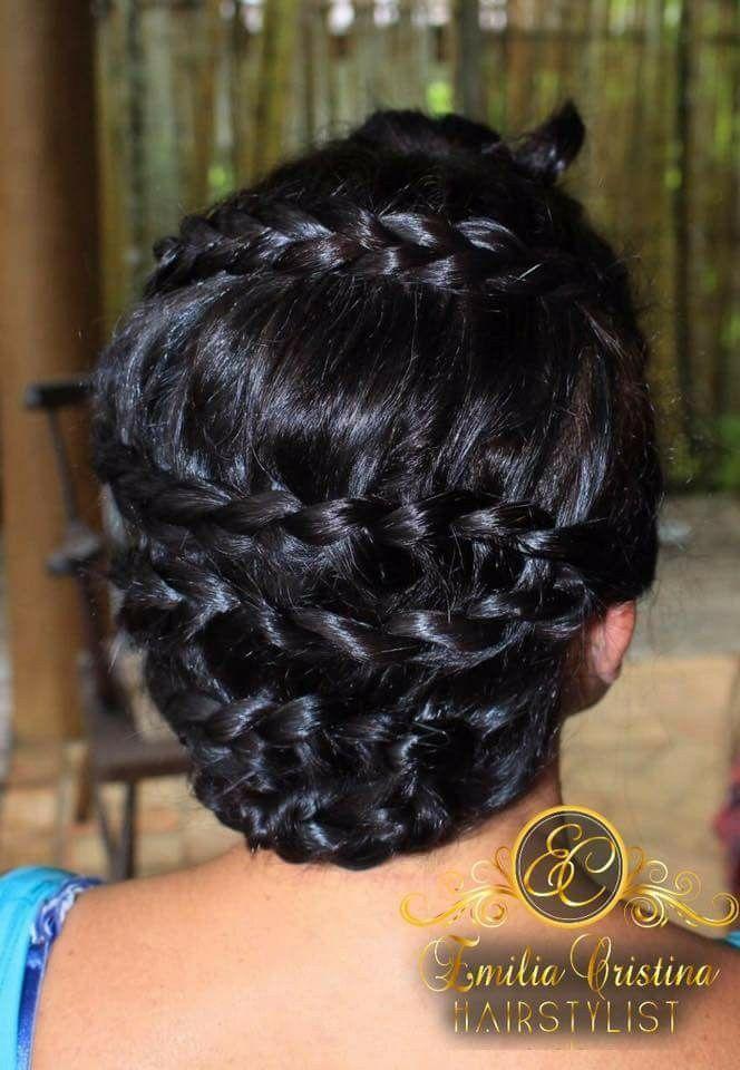 Penteado com tranças, madrinha cabelo cabeleireiro(a) stylist / visagista