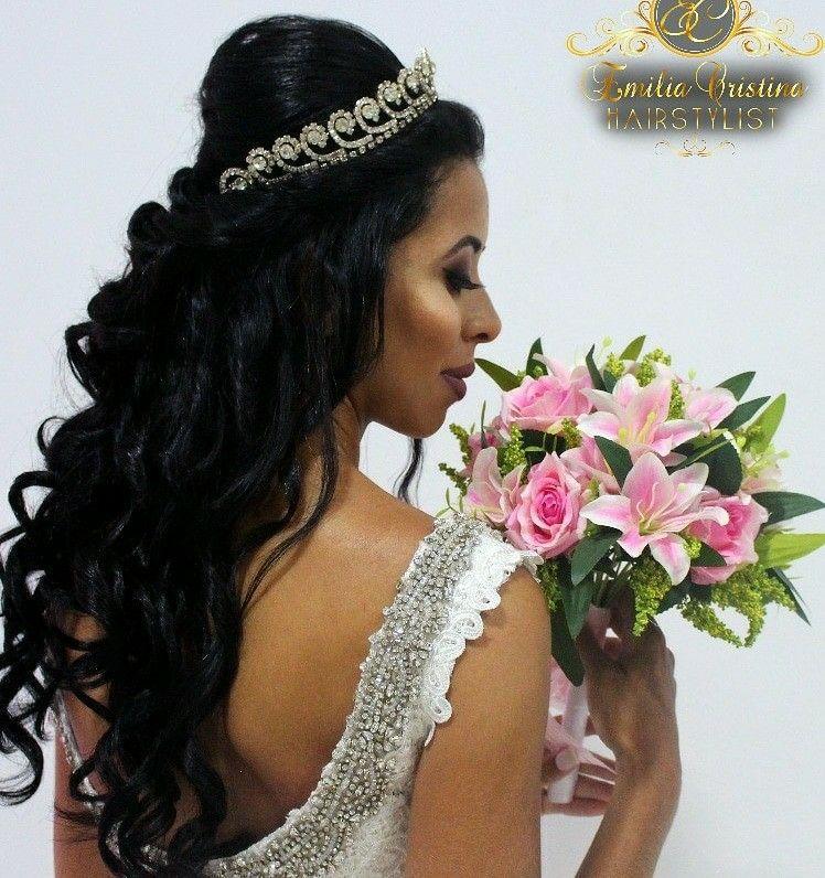 Penteado princesa semi preso❤ cabelo cabeleireiro(a) stylist / visagista