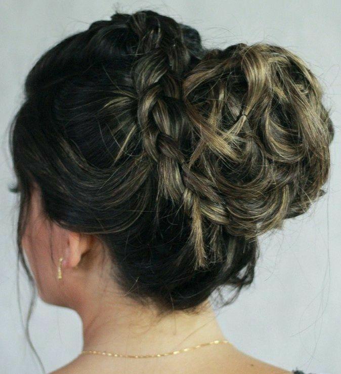 Coque despojado com trança😍 cabelo cabeleireiro(a) stylist / visagista