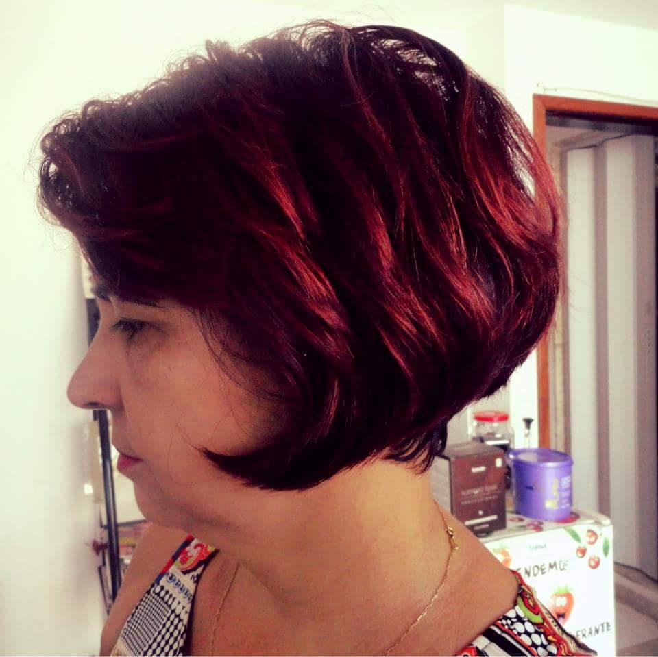 Corte e Pintura. cabelo cabeleireiro(a)