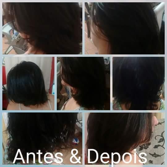 Corte com leves camadas ,hidratação e escova cabelo cabeleireiro(a)