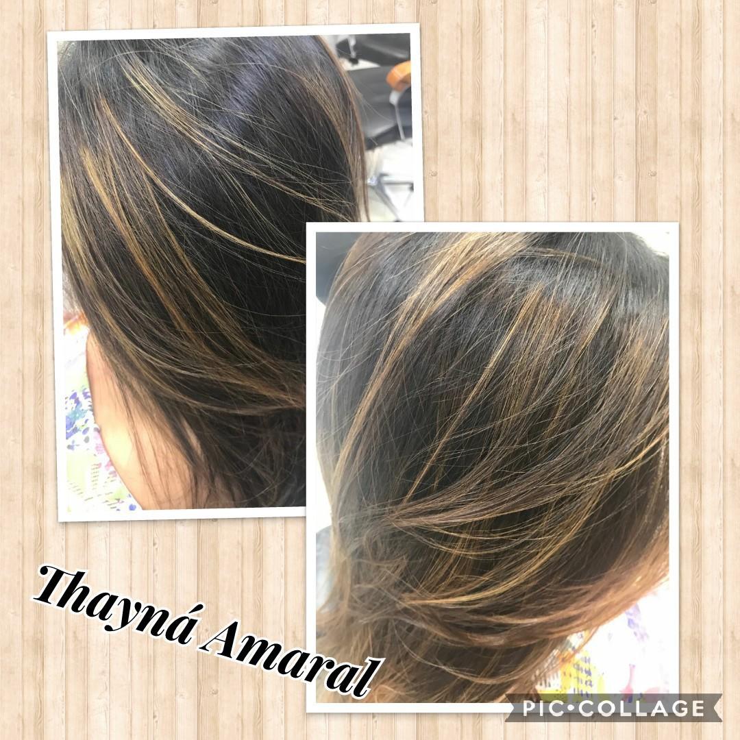 Aquela Morena Iluminada😍😍 Nada melhor que mudar seu  visual sem agressão a haste 😉 #Ficou_linda 💆 cabelo cabeleireiro(a)
