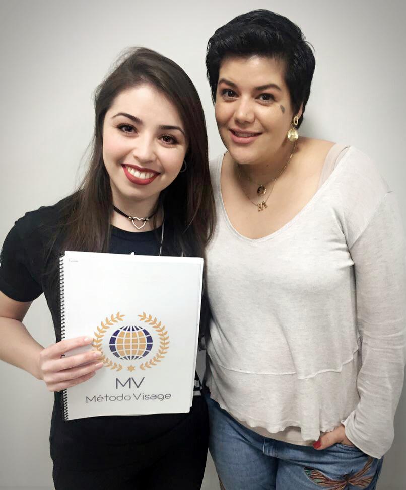 Curso método visage com a maquiadora Alejandra Espíndola maquiagem maquiador(a) consultor(a) designer de sobrancelhas