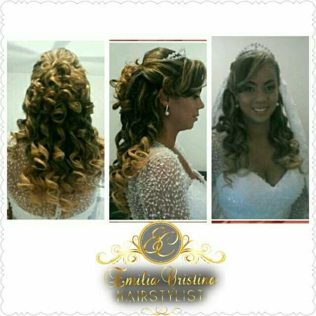 Penteado semi preso cabelo cabeleireiro(a) stylist / visagista