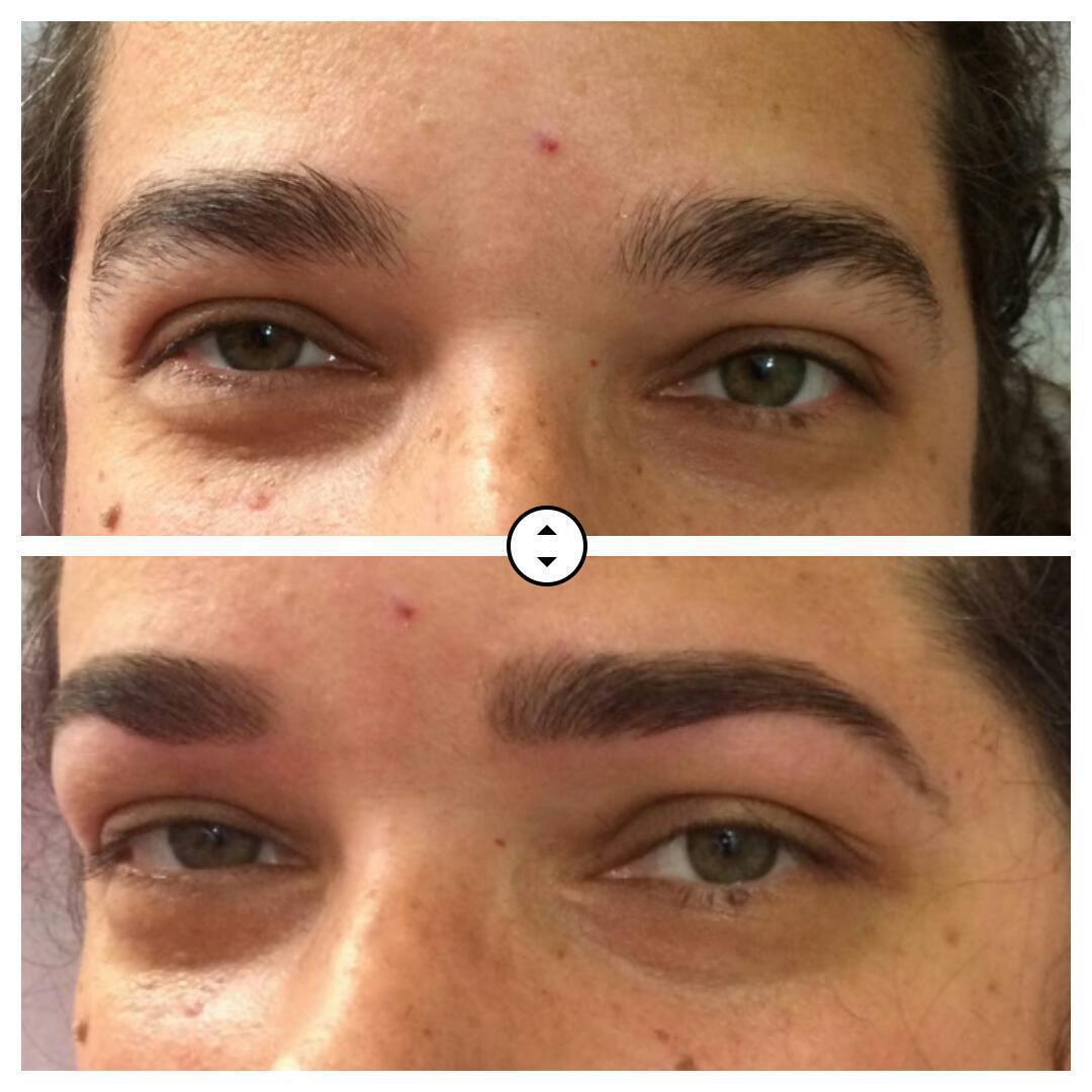 Designer de sobrancelha + aplicação pigmento  estética designer de sobrancelhas