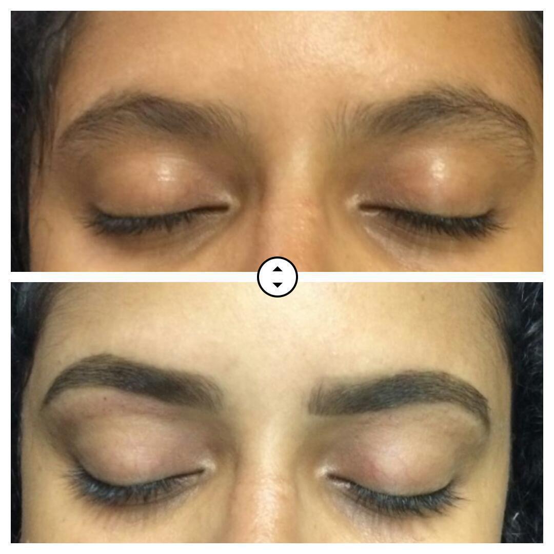 Designer de sobrancelha + aplicação de pigmento  estética designer de sobrancelhas