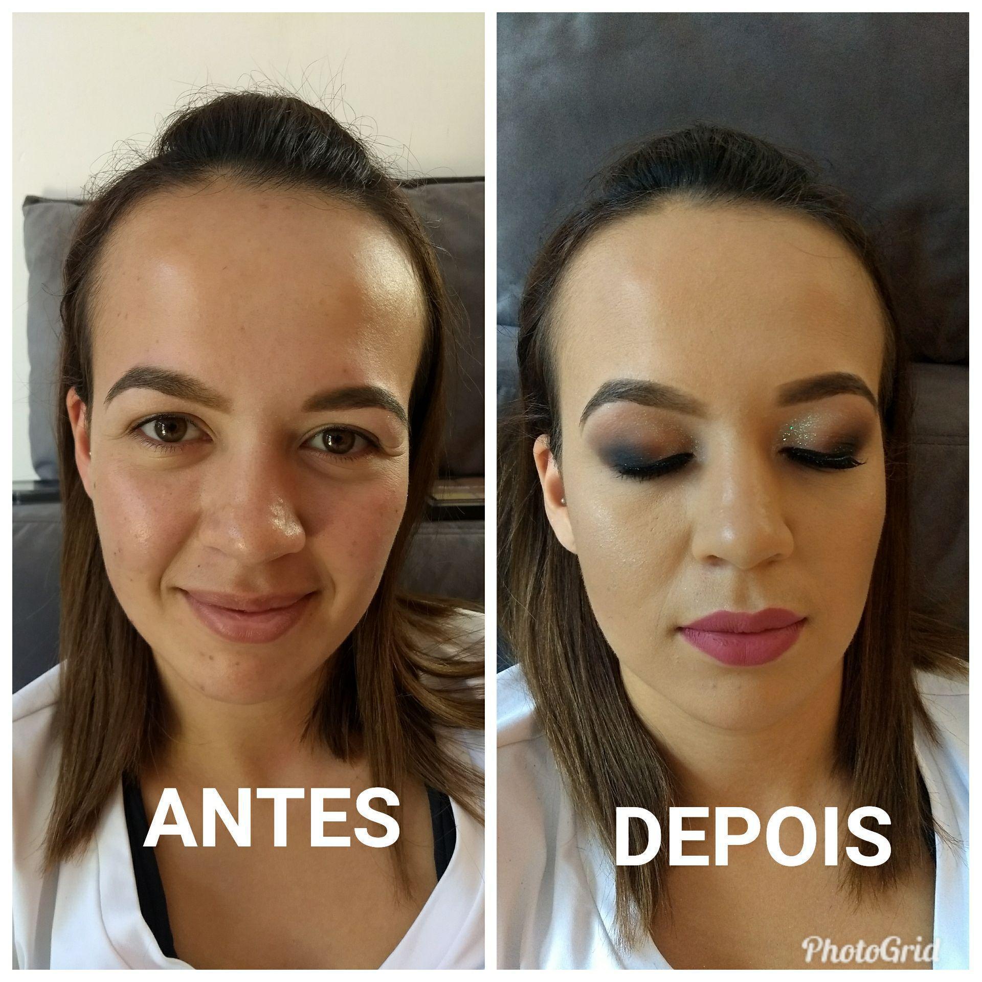 Esfumado diagonal maquiagem maquiador(a)