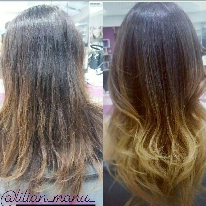 Ombre Hair dourado cabelo cabeleireiro(a)