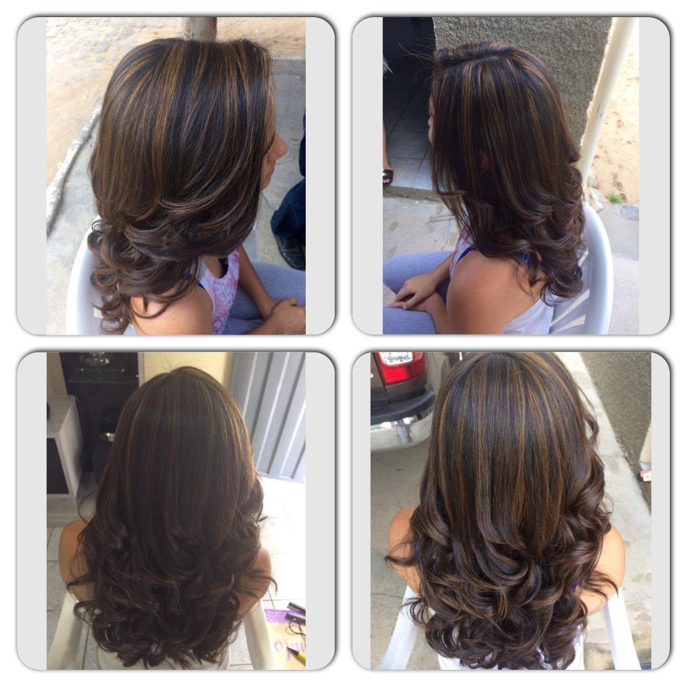 Morena iluminada! Finalização com escova com ondas! cabelo cabeleireiro(a)