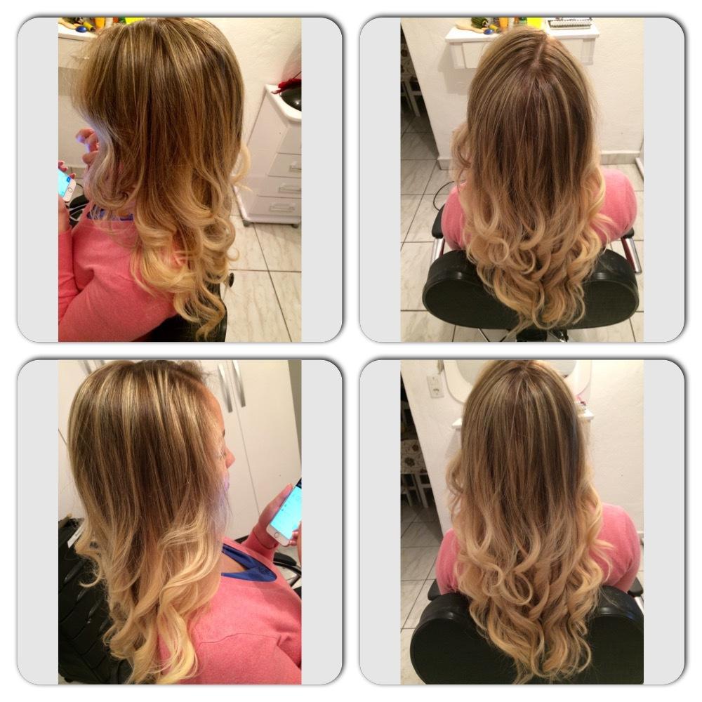 Retoque de raiz com pontas mais claras!  cabelo cabeleireiro(a)