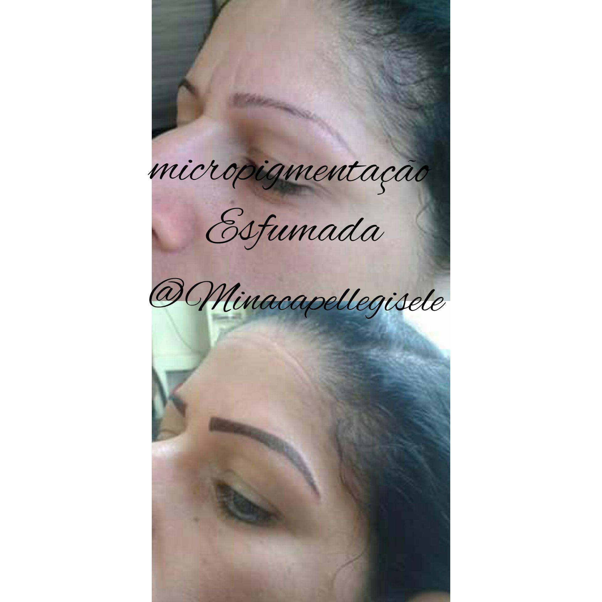 Micropigmentação esfumada logo após do procedimento, manter os cuidados nessesario para obtener o resultado natural em 30 dias.  estética cabeleireiro(a) designer de sobrancelhas micropigmentador(a)