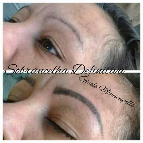 Micropigmentação esfumada  estética cabeleireiro(a) designer de sobrancelhas micropigmentador(a)