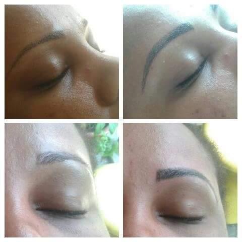 Micropigmentação esfumada a 2 anos ,como retoque fio a fio por cima.  cabeleireiro(a) designer de sobrancelhas micropigmentador(a)