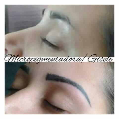 Micropigmentação esfumada logo após do procedimento.  outros cabeleireiro(a) designer de sobrancelhas micropigmentador(a)