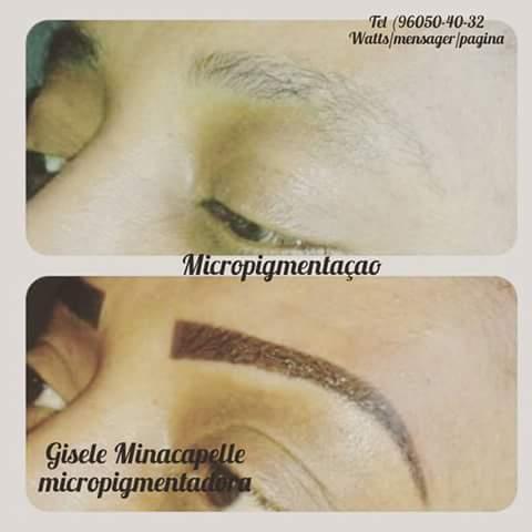 Micropigmentação esfumada logo após do procedimento.  estética cabeleireiro(a) designer de sobrancelhas micropigmentador(a)