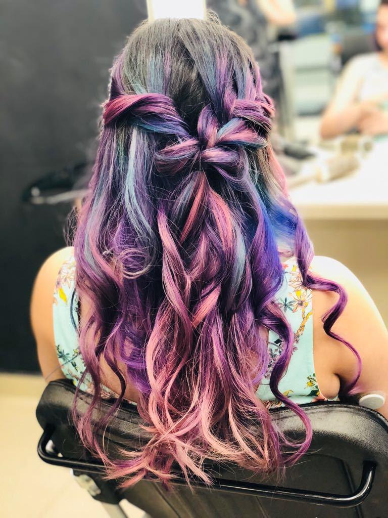 Unicorn Hair  #cebelocolorido #raibon #colorful #unicorn #rosa #azul #roxo cabelo cabeleireiro(a)