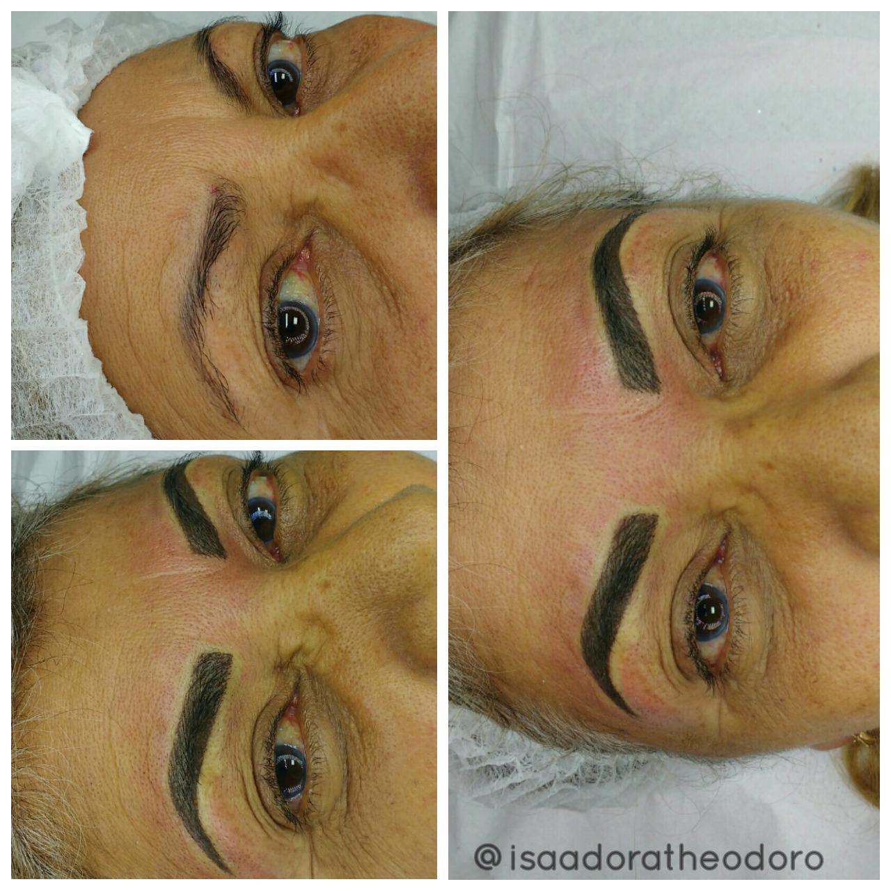Valorizando o olhar com micropigmentação fio a fio + ombré shadow 😍 estética designer de sobrancelhas maquiador(a) micropigmentador(a)