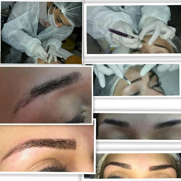 Microblanding fio a fio  estética cabeleireiro(a) designer de sobrancelhas micropigmentador(a)