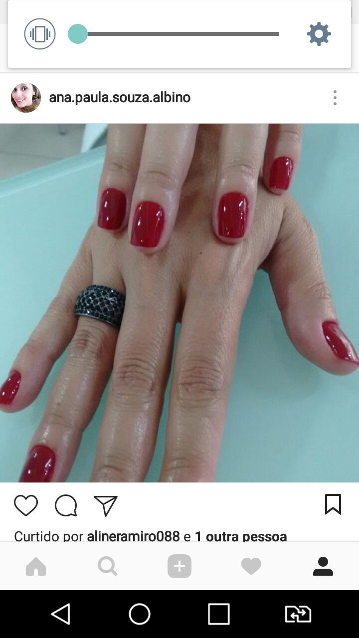 Vermelho perfeito esmaltação perfeita! Amo o q faço! unha manicure e pedicure